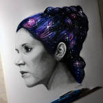 Carrie Fisher Drawing - Tribute