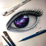 Galaxy Eye Painting