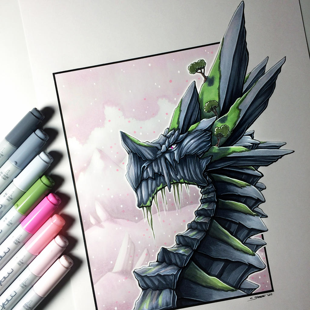 rock dragon drawing by lethalchris on deviantart
