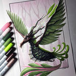 Earth Phoenix Drawing
