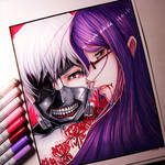 Kaneki and Rize from Tokyo Ghoul