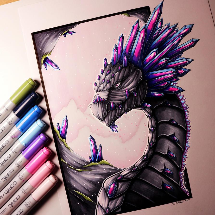 how to draw a gemstone dragon