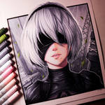 2B from NieR: Automata - Drawing