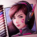 D.Va Drawing - Overwatch Fan Art