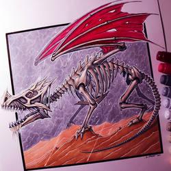Bone Dragon Drawing