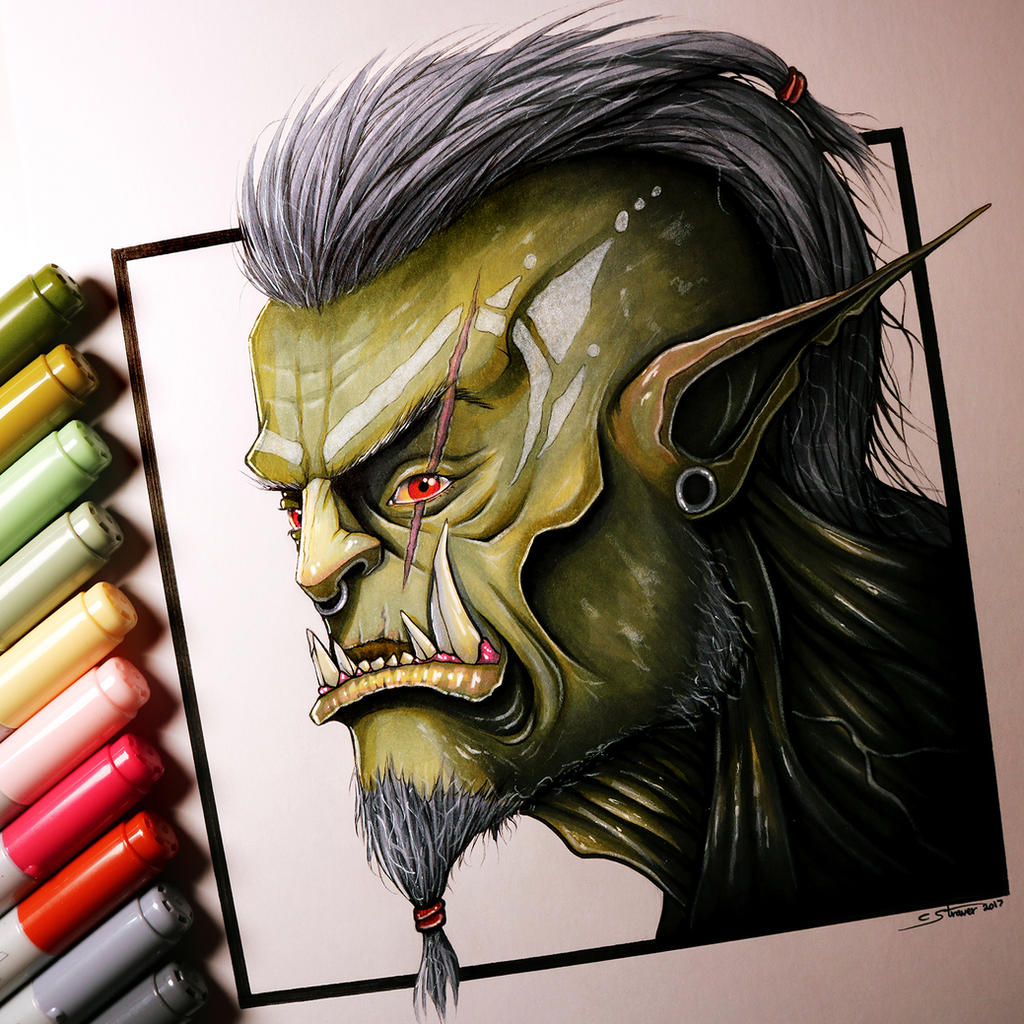 Orc Drawing by LethalChris on DeviantArt