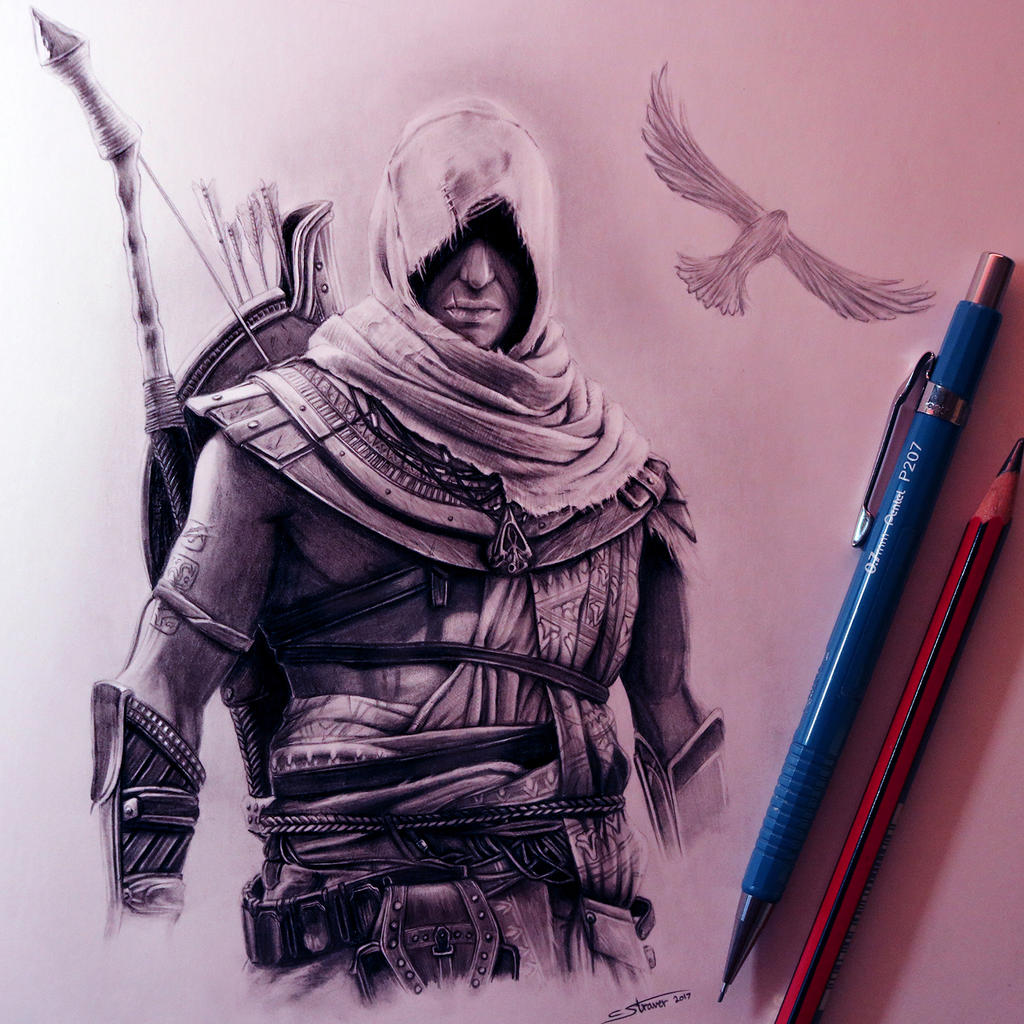 Assassin S Creed Origins Drawing By Lethalchris On Deviantart