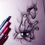 Smoking Eye Drawing