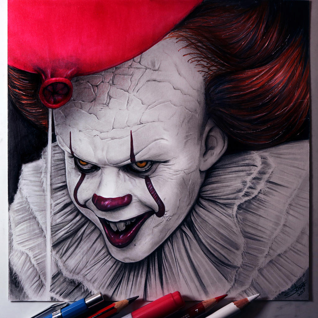 Pennywise Drawing It Fan Art By Lethalchris On Deviantart