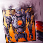 Steampunk Robot Drawing
