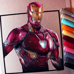 Iron Man Drawing by LethalChris
