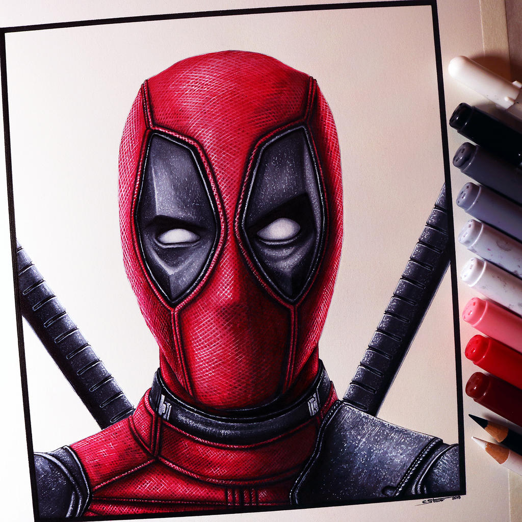 Deadpool Drawing by LethalChris on DeviantArtDeadpool Sketch
