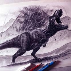 Jurassic World: Fallen Kingdom Drawing by LethalChris