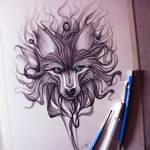 Smoke Wolf Drawing