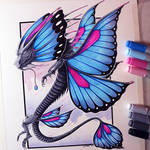 Butterfly Dragon Drawing