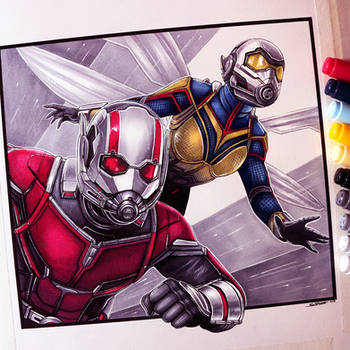 Ant-Man and the Wasp Drawing by LethalChris