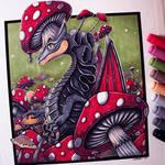 Mushroom Dragon Drawing