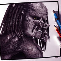 The Predator Drawing by LethalChris