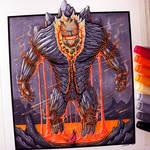 Lava Golem Drawing
