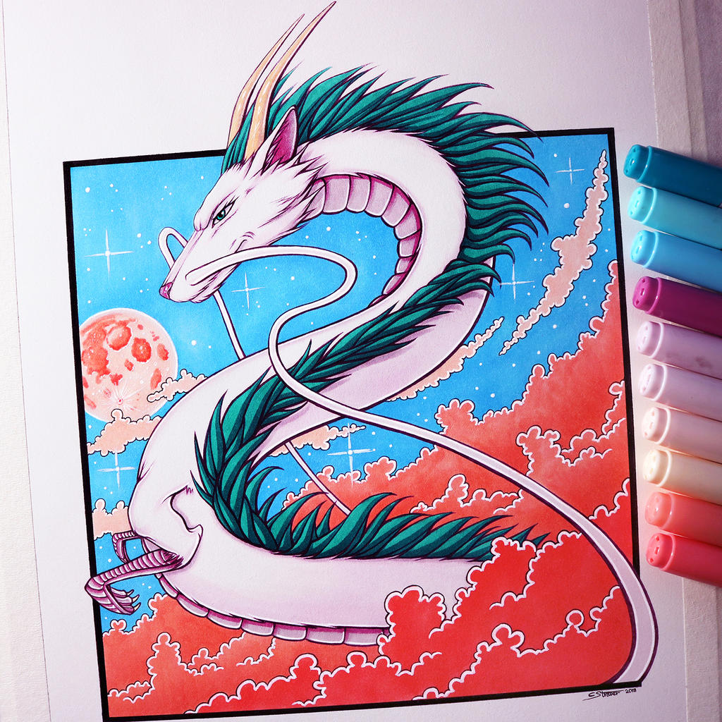 Haku From Spirited Away Drawing By Lethalchris On Deviantart