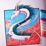 Haku from Spirited Away - Drawing