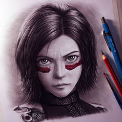 Alita: Battle Angel Drawing by LethalChris