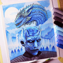 Night King and Viserion - Game of Thrones Fan Art by LethalChris