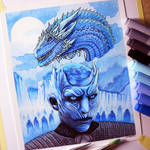 Night King and Viserion - Game of Thrones Fan Art