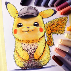 Detective Pikachu Drawing by LethalChris