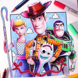 Toy Story 4 Drawing - Fan Art by LethalChris
