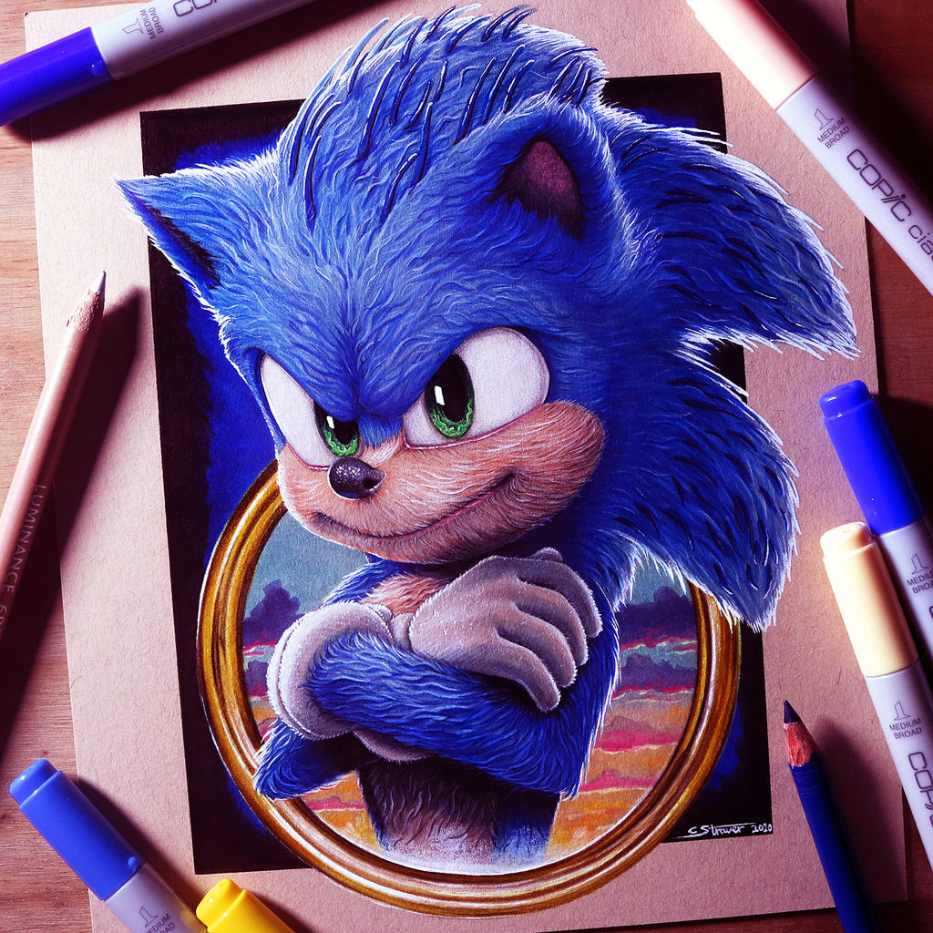 Sonic The Hedgehog Drawing By Lethalchris On Deviantart