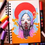 Cyberpunk Character - My First Posca Pen Art