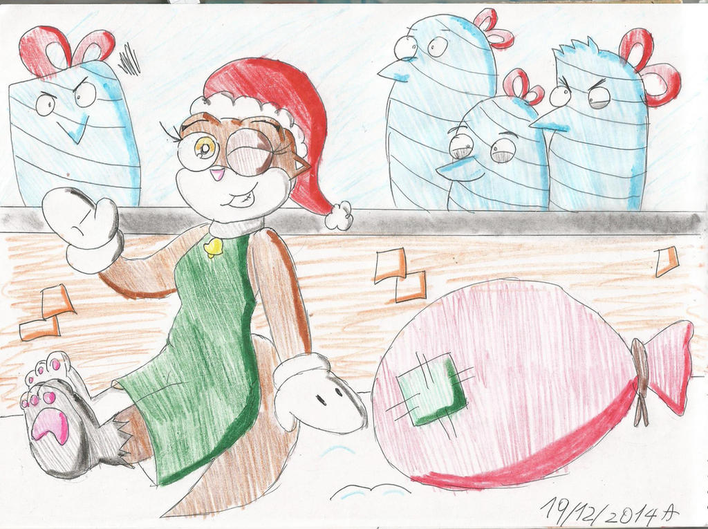 12 Christmas: four penguins wrapped by CAPTAIN-CHETO