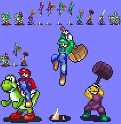 Smash Emblem: Mario, Luigi, Wario, Yoshi
