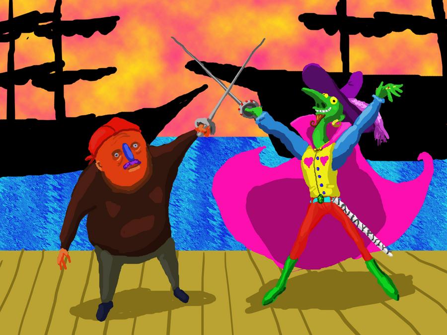 Pirate Duel by BernardFazling