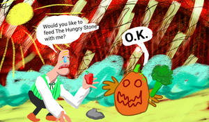 Feper and Pumky visit the Hungry Stone