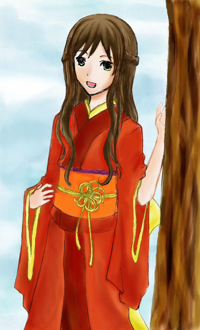 Kimono girl by crovirus on DeviantArt