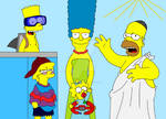 The Simpsons on holiday