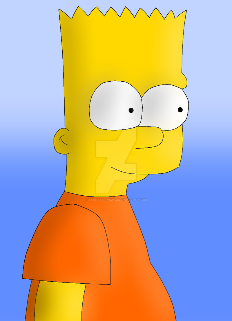 Bart Simpson again by terry12fins24