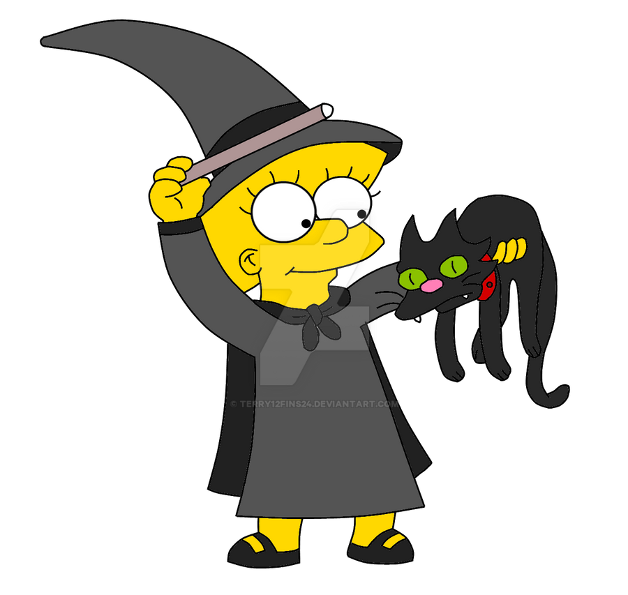 Lisa the Witch - Black by terry12fins24