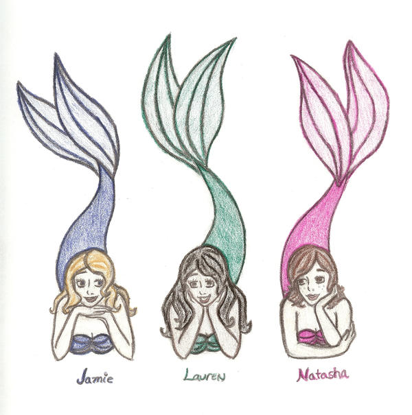 three mermaid friends by kyoishott13