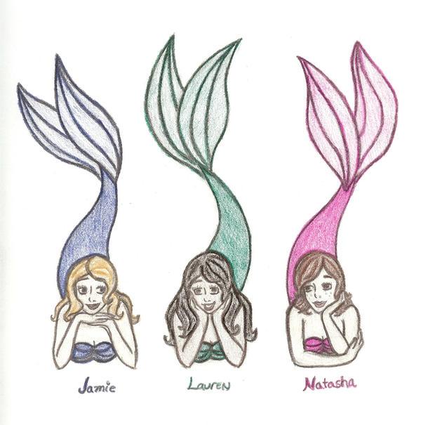three mermaid friends by kyoishott13