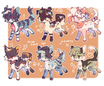 [open] bunch of adopts 03 by Dxex