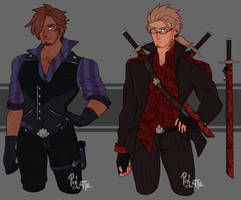 [AUCTION] Bad boys (closed) by Pixel-Latte