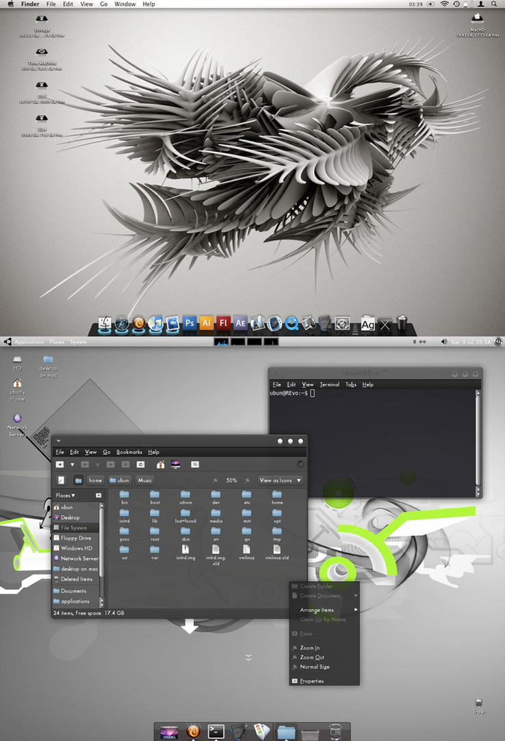 Desktop featuring Black Gloss by thepm34