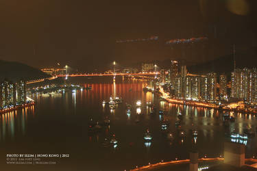 Tsing Ma Bridge at night by sllim