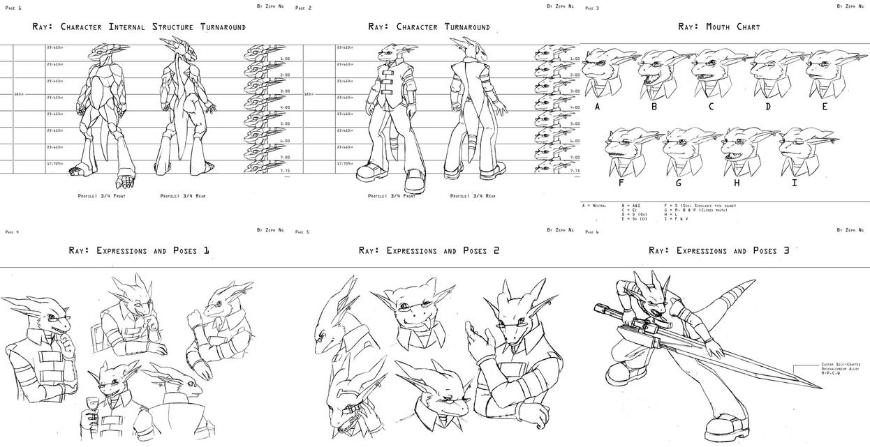 Ray Character Design Package By Zephyron On DeviantArt - Character design document