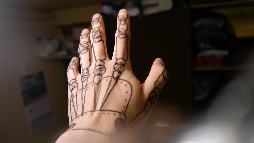 Mechanic-Hand drawing by KayserTXR