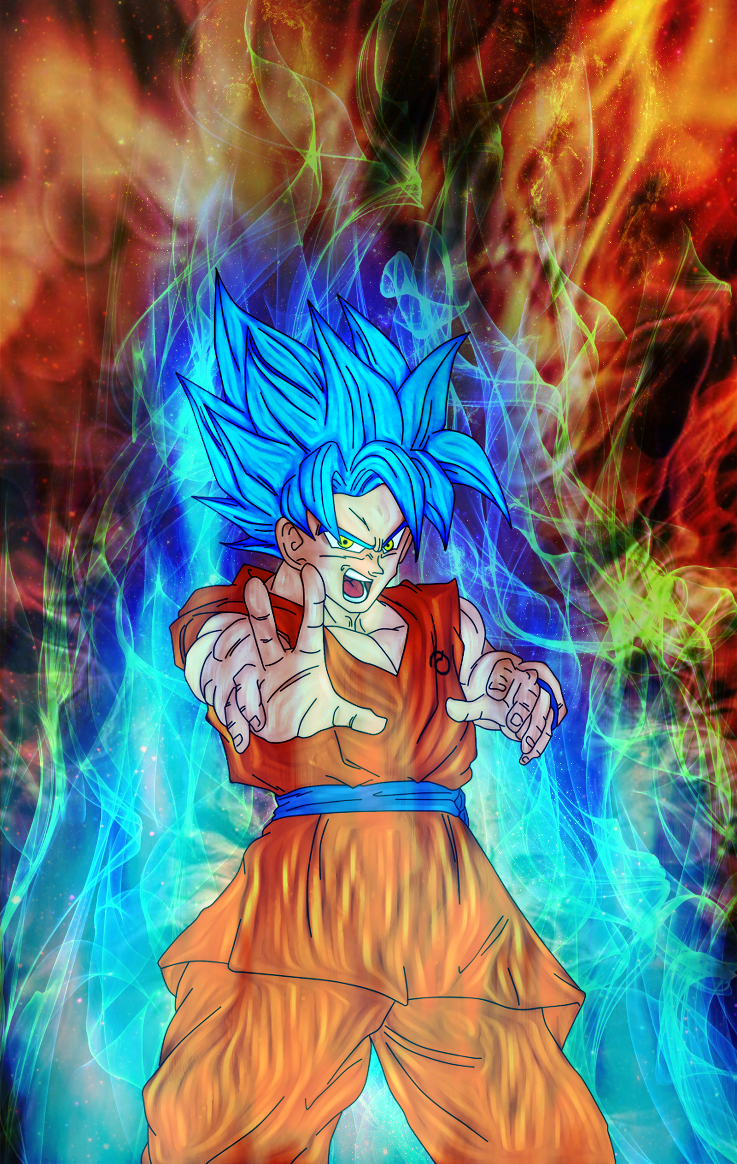 Goku God-ki Super Saiyan by Nassif9000 on DeviantArt