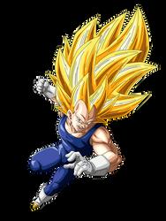 Super Saiyan 3 Vegeta Render